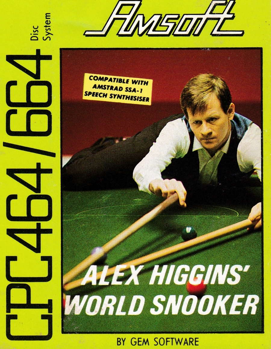cover of the Amstrad CPC game Alex Higgins' World Snooker  by GameBase CPC