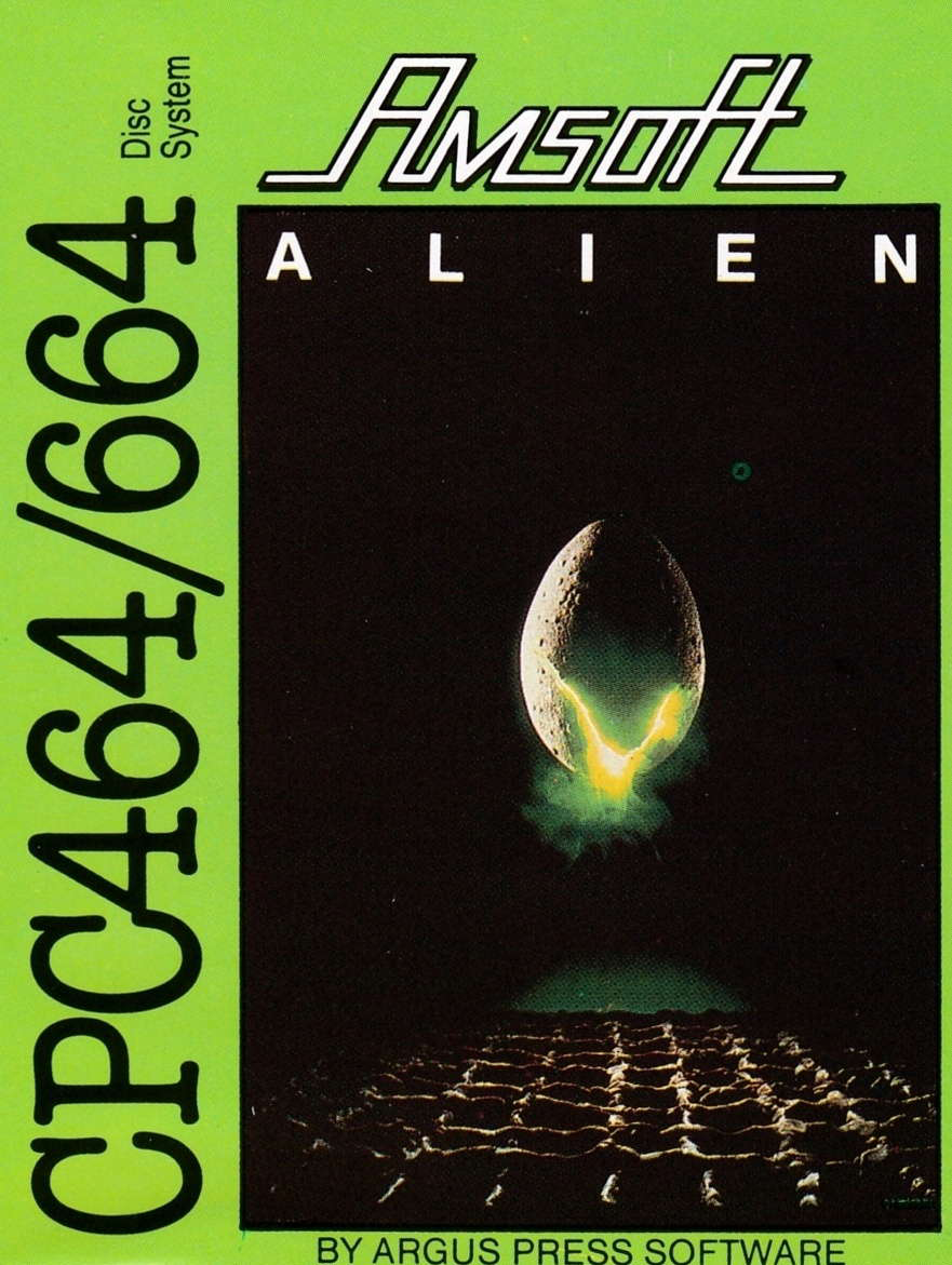 screenshot of the Amstrad CPC game Alien by GameBase CPC