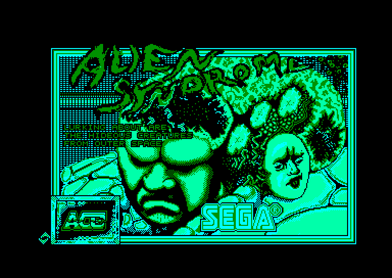 screenshot of the Amstrad CPC game Alien syndrome by GameBase CPC