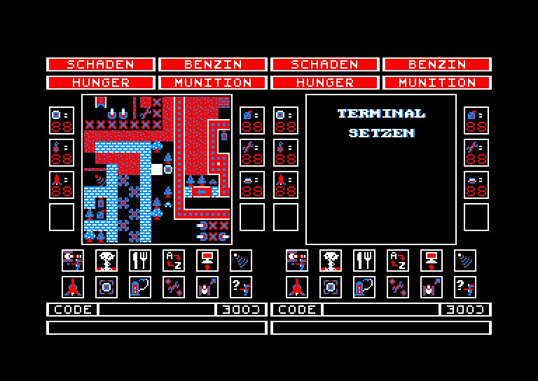 screenshot of the Amstrad CPC game Alien tank attack by GameBase CPC