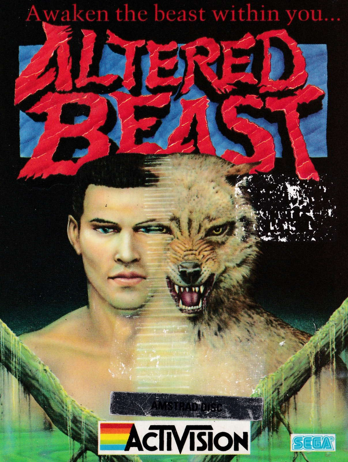screenshot of the Amstrad CPC game Altered beast by GameBase CPC