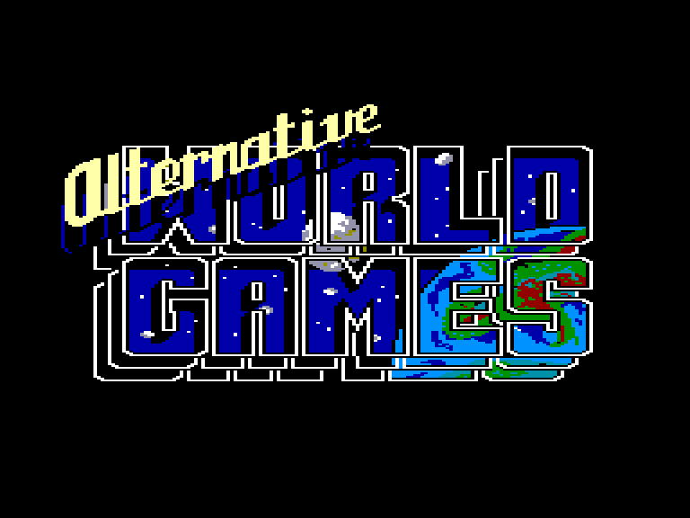 screenshot of the Amstrad CPC game Alternative world games by GameBase CPC