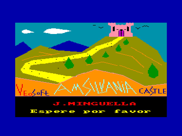 screenshot of the Amstrad CPC game Amsilvania castle by GameBase CPC