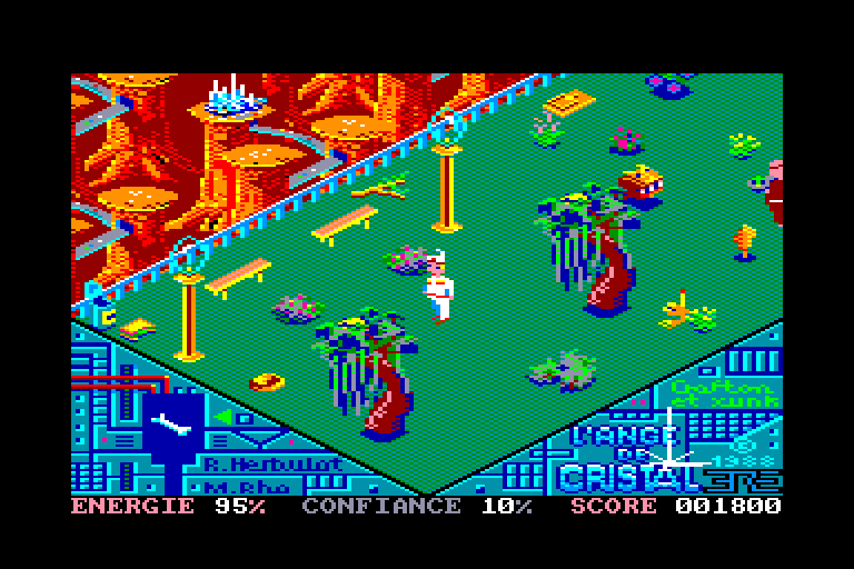 screenshot of the Amstrad CPC game Ange de cristal (l') by GameBase CPC