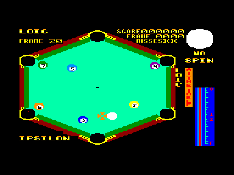 screenshot of the Amstrad CPC game Angleball by GameBase CPC