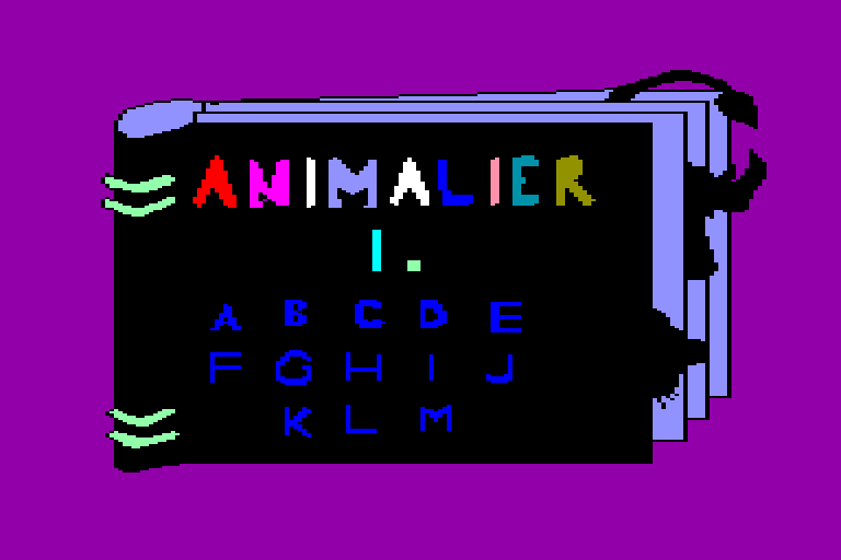 screenshot of the Amstrad CPC game Animalier (l') by GameBase CPC