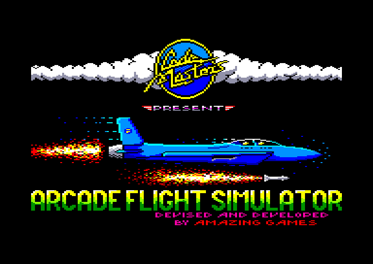 screenshot of the Amstrad CPC game Arcade flight simulator by GameBase CPC