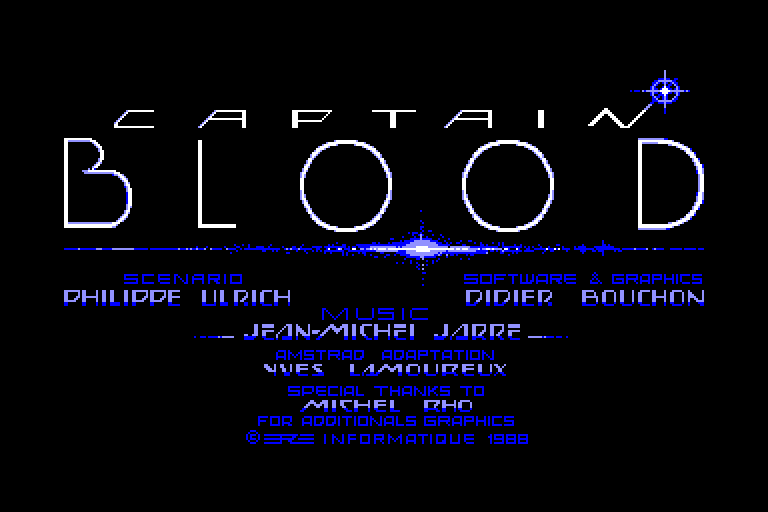 screenshot of the Amstrad CPC game Arche du Captain Blood (l') by GameBase CPC