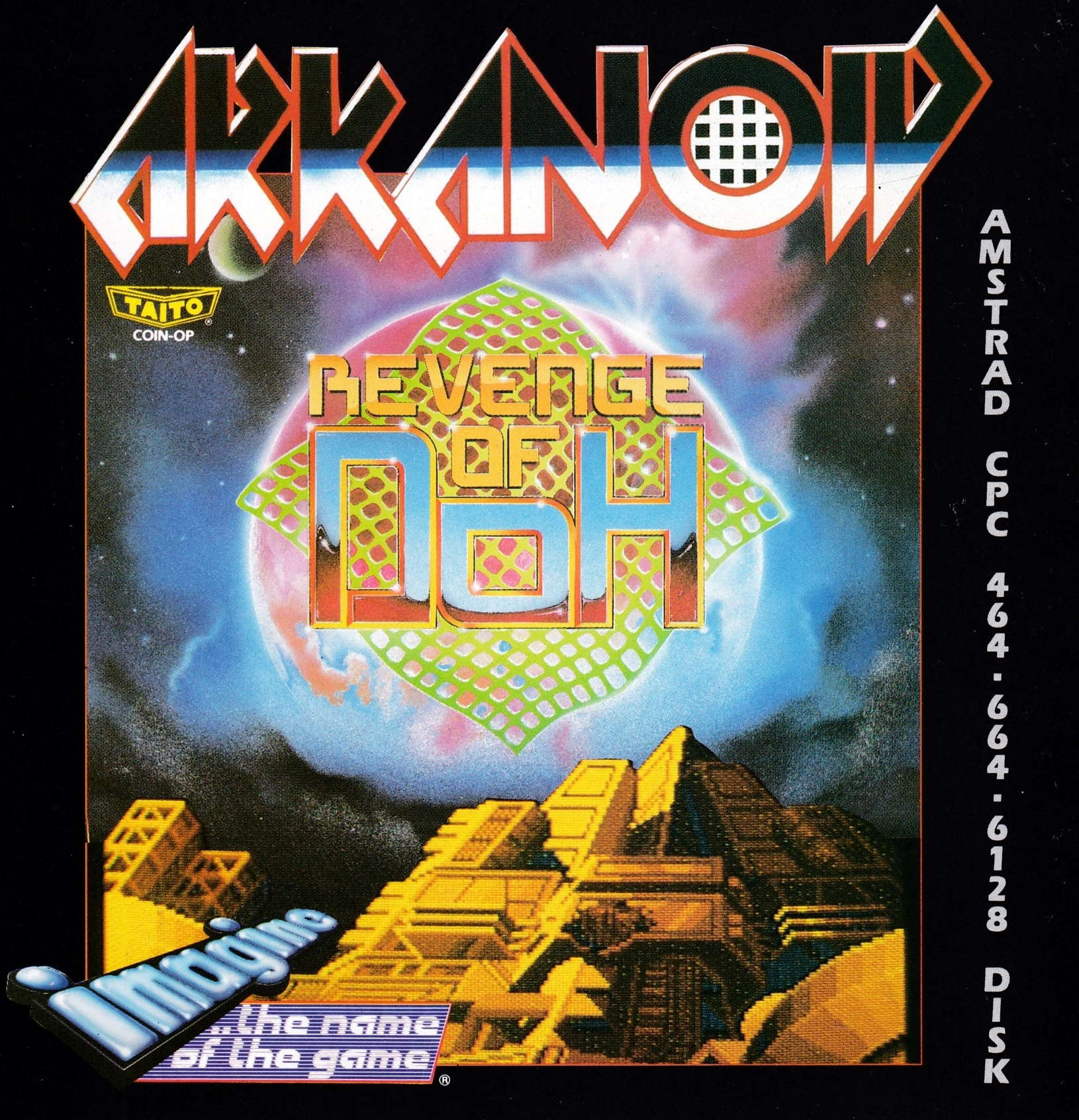 screenshot of the Amstrad CPC game Arkanoid - Revenge of Doh by GameBase CPC