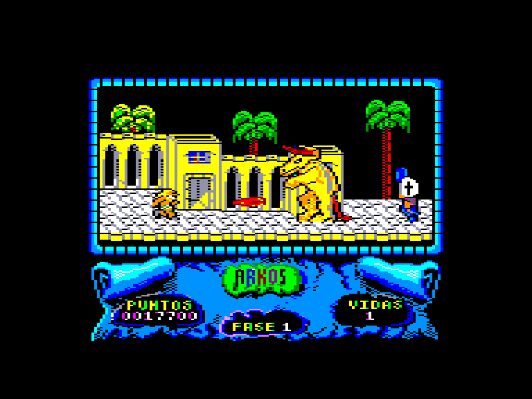 screenshot of the Amstrad CPC game Arkos by GameBase CPC