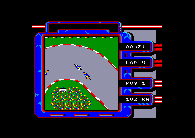 screenshot of the Amstrad CPC game Aspar GP Master by GameBase CPC