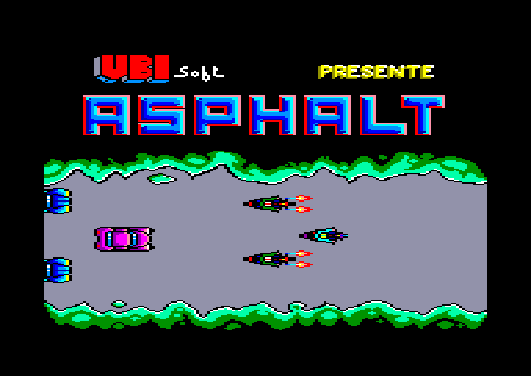 screenshot of the Amstrad CPC game Asphalt by GameBase CPC