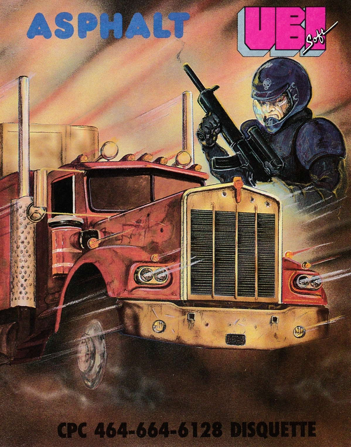 cover of the Amstrad CPC game Asphalt  by GameBase CPC
