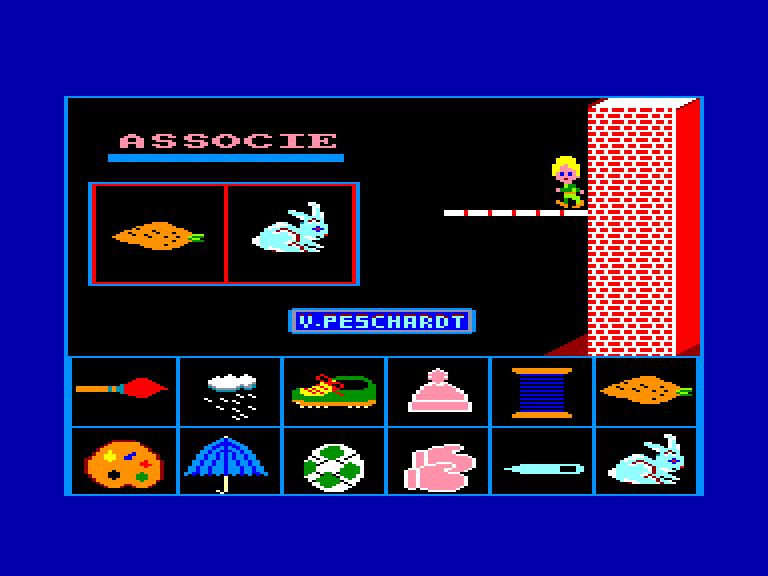 screenshot of the Amstrad CPC game Associe by GameBase CPC