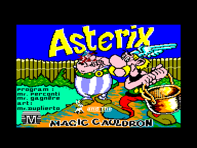 screenshot of the Amstrad CPC game Asterix and the magic cauldron by GameBase CPC