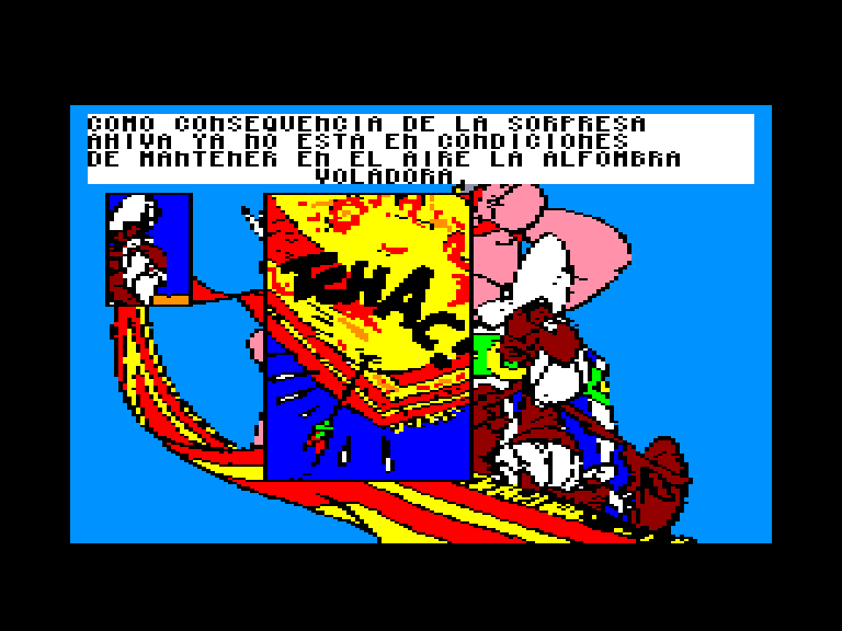screenshot of the Amstrad CPC game Asterix en la India by GameBase CPC
