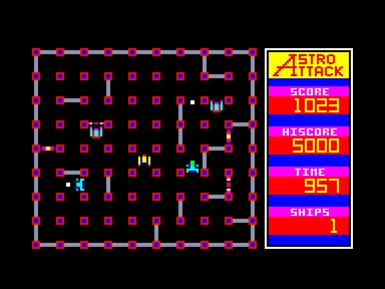screenshot of the Amstrad CPC game Astro Attack by GameBase CPC
