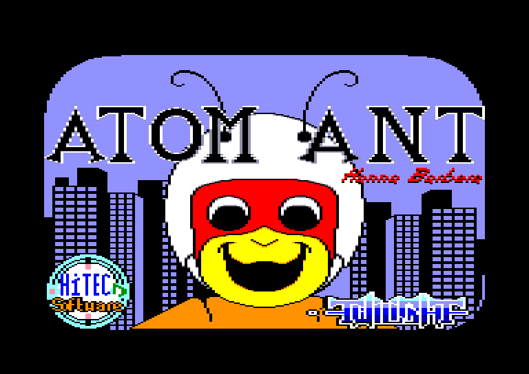 screenshot of the Amstrad CPC game Atom ant by GameBase CPC