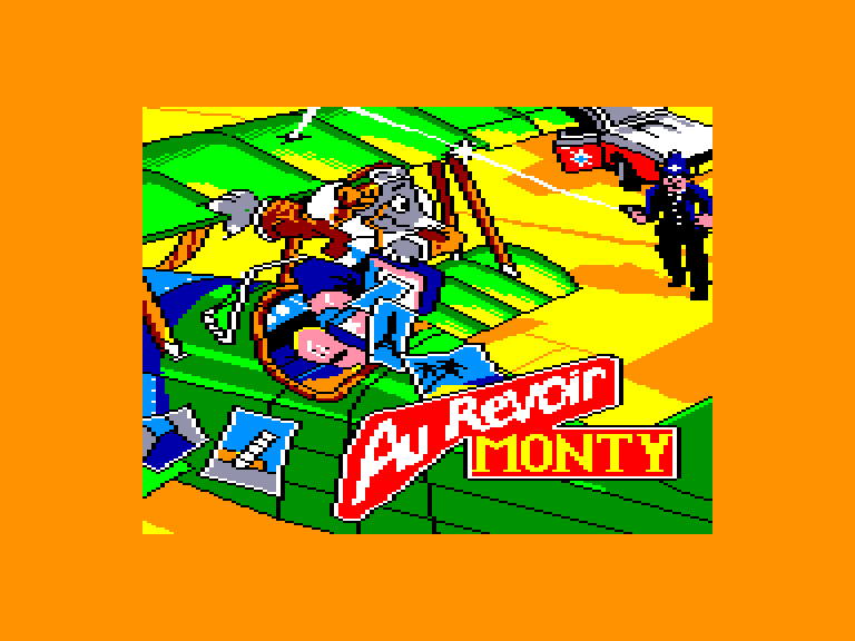 screenshot of the Amstrad CPC game Au Revoir Monty by GameBase CPC