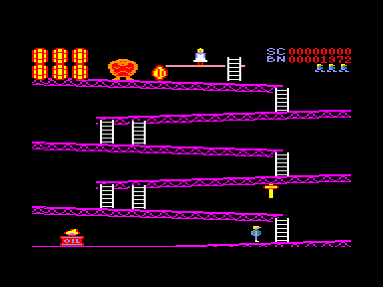 screenshot of the Amstrad CPC game Climb-It by GameBase CPC