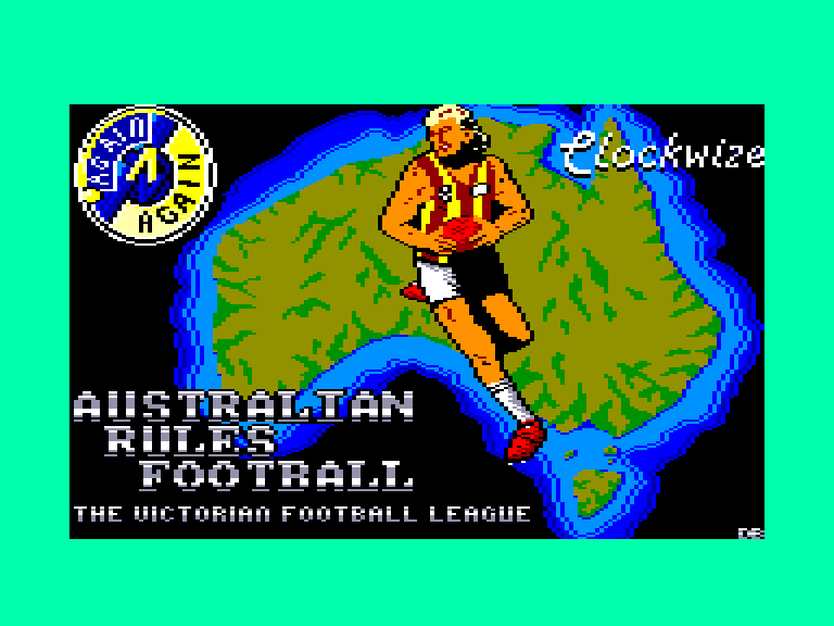 screenshot of the Amstrad CPC game Australian rules football by GameBase CPC