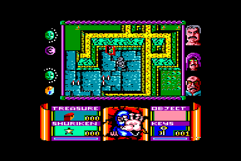 screenshot of the Amstrad CPC game Avenger by GameBase CPC