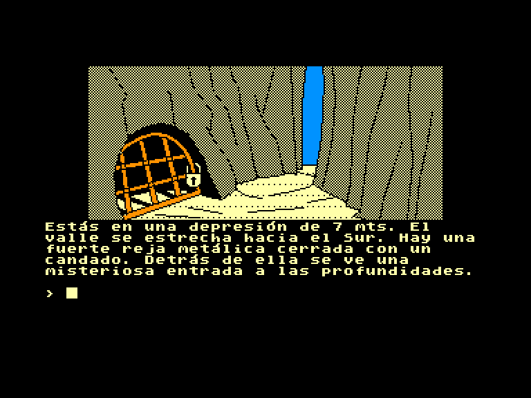 screenshot of the Amstrad CPC game Aventura original (la) by GameBase CPC