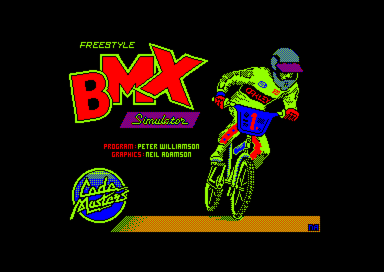 screenshot of the Amstrad CPC game Bmx freestyle by GameBase CPC