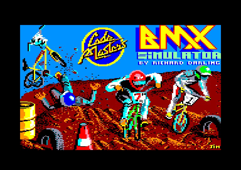 screenshot of the Amstrad CPC game Bmx simulator by GameBase CPC