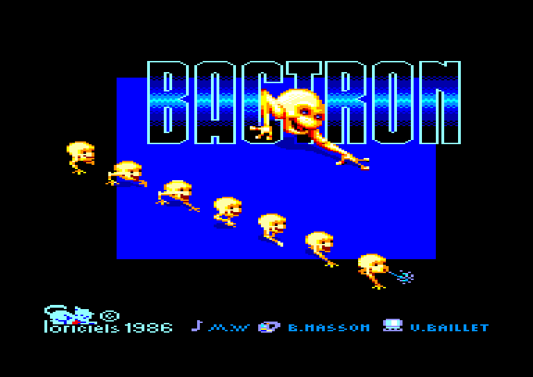 screenshot of the Amstrad CPC game Bactron by GameBase CPC
