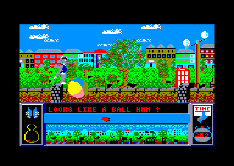 screenshot of the Amstrad CPC game Bad Cat by GameBase CPC
