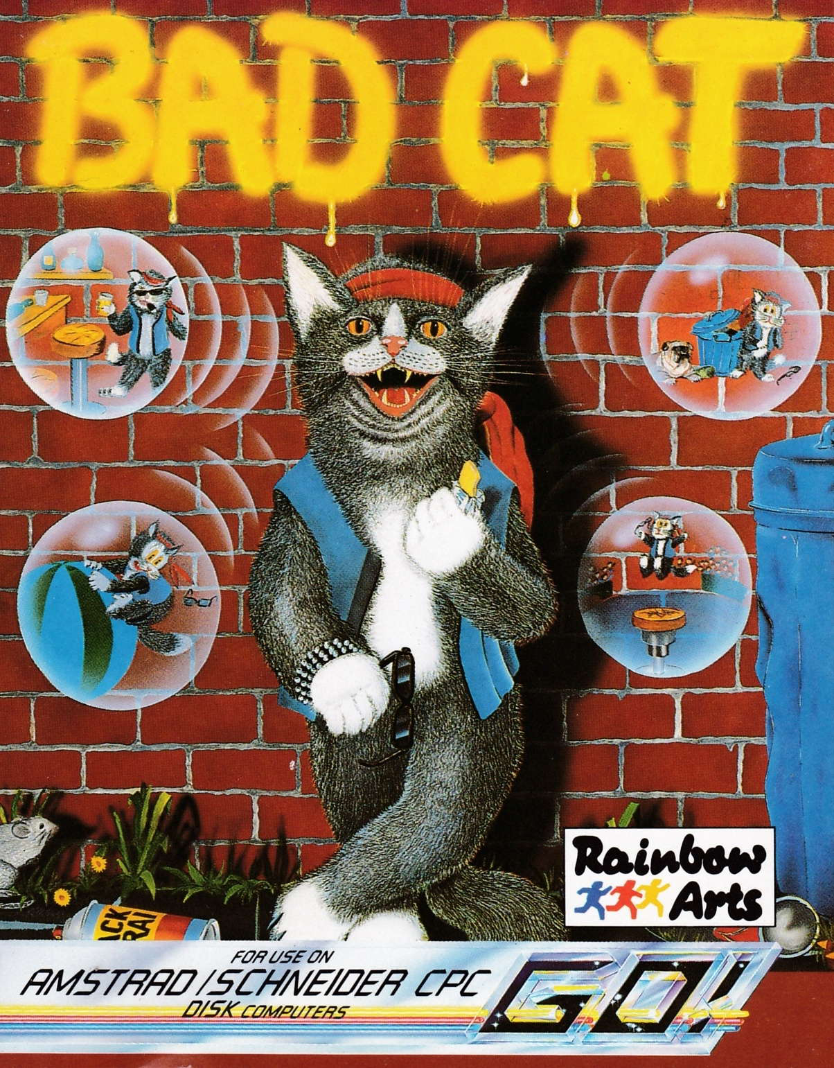 cover of the Amstrad CPC game Bad Cat  by GameBase CPC