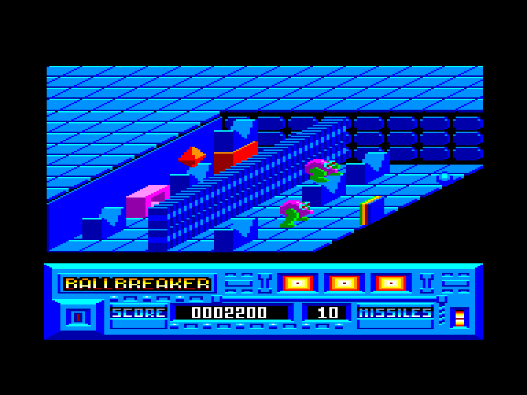 screenshot of the Amstrad CPC game Ball Breaker by GameBase CPC