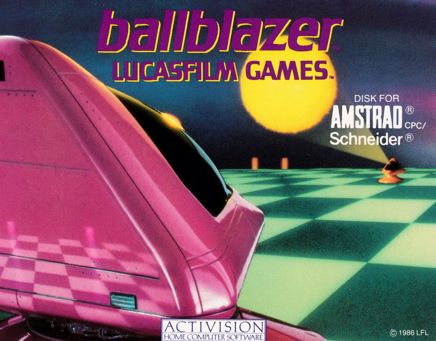 screenshot of the Amstrad CPC game Ballblazer by GameBase CPC