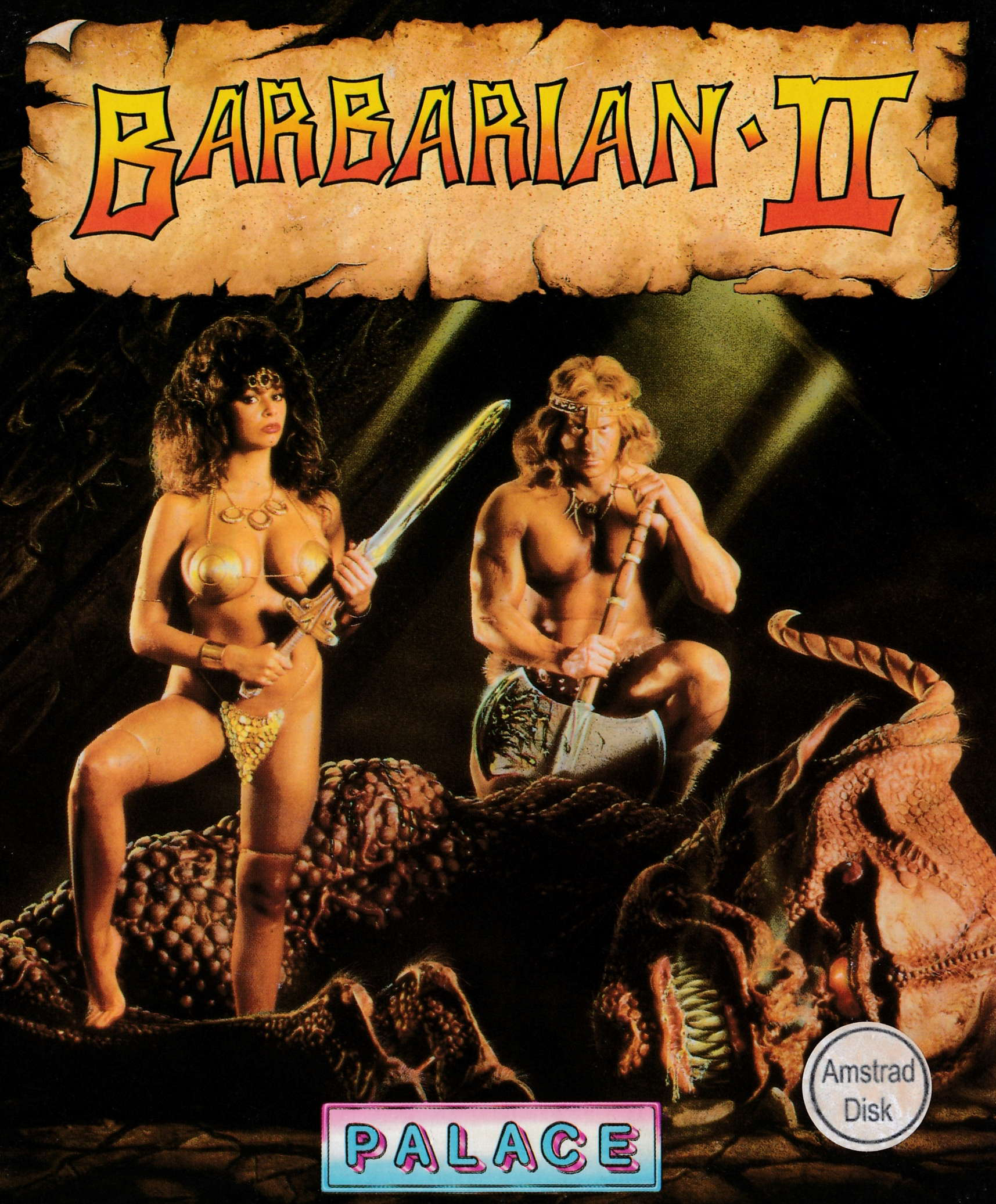 screenshot of the Amstrad CPC game Barbarian II by GameBase CPC