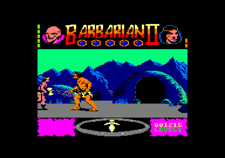 screenshot of the Amstrad CPC game Barbarian II The Dungeon Of Drax by GameBase CPC