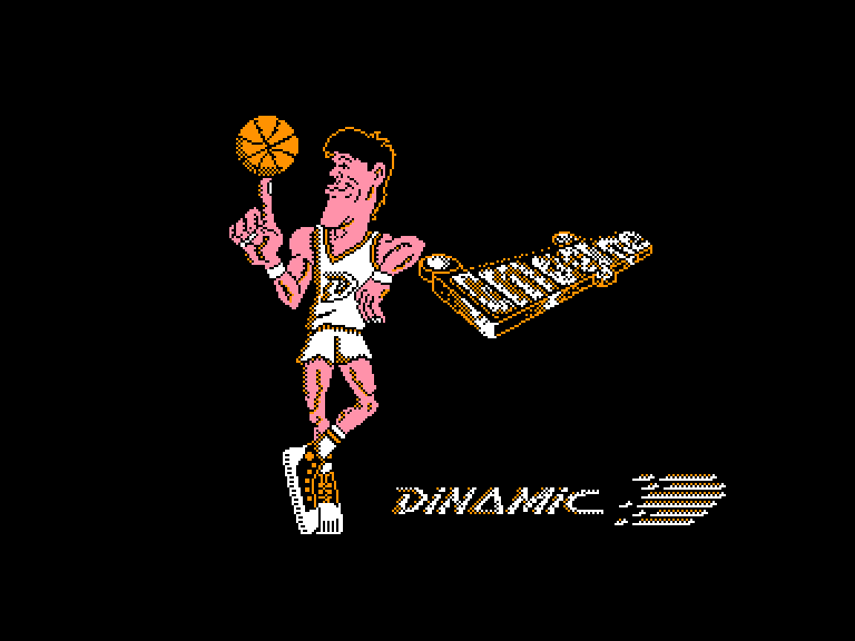 screenshot of the Amstrad CPC game Fernando Martin Basket Master by GameBase CPC