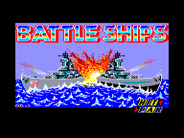 screenshot of the Amstrad CPC game Battle Ships by GameBase CPC