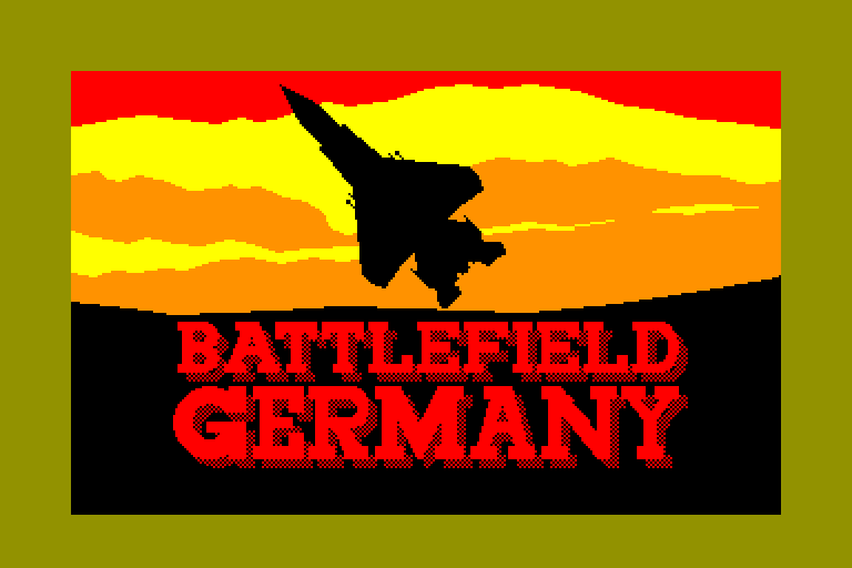 screenshot of the Amstrad CPC game Battlefield Germany by GameBase CPC
