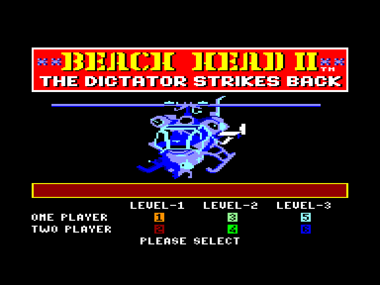 screenshot of the Amstrad CPC game Beach-Head II by GameBase CPC