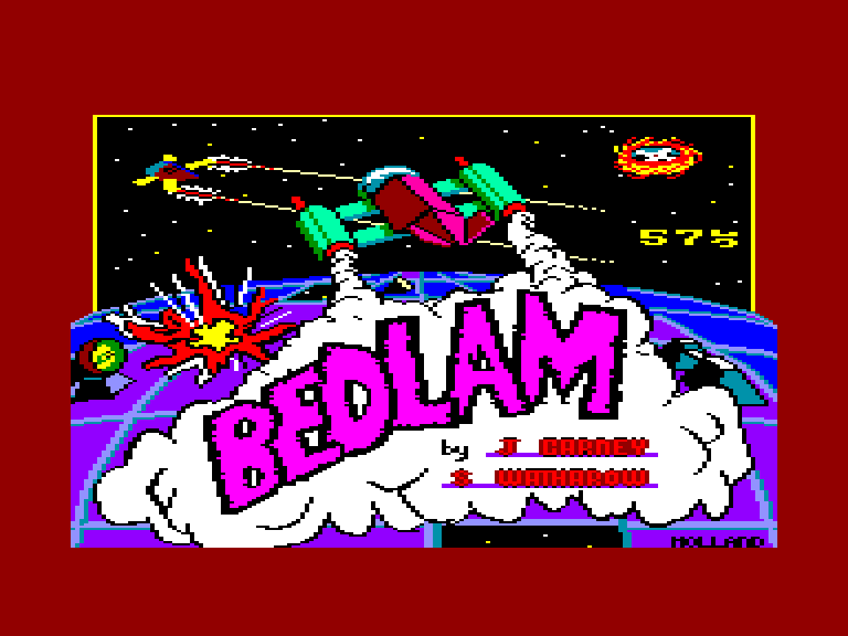 screenshot of the Amstrad CPC game Bedlam by GameBase CPC