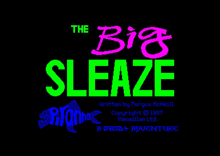 screenshot of the Amstrad CPC game Big sleaze (the) by GameBase CPC