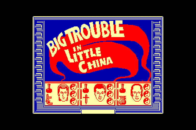 screenshot of the Amstrad CPC game Big trouble in little china by GameBase CPC