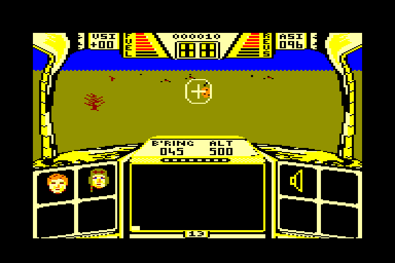 screenshot of the Amstrad CPC game Biggles by GameBase CPC