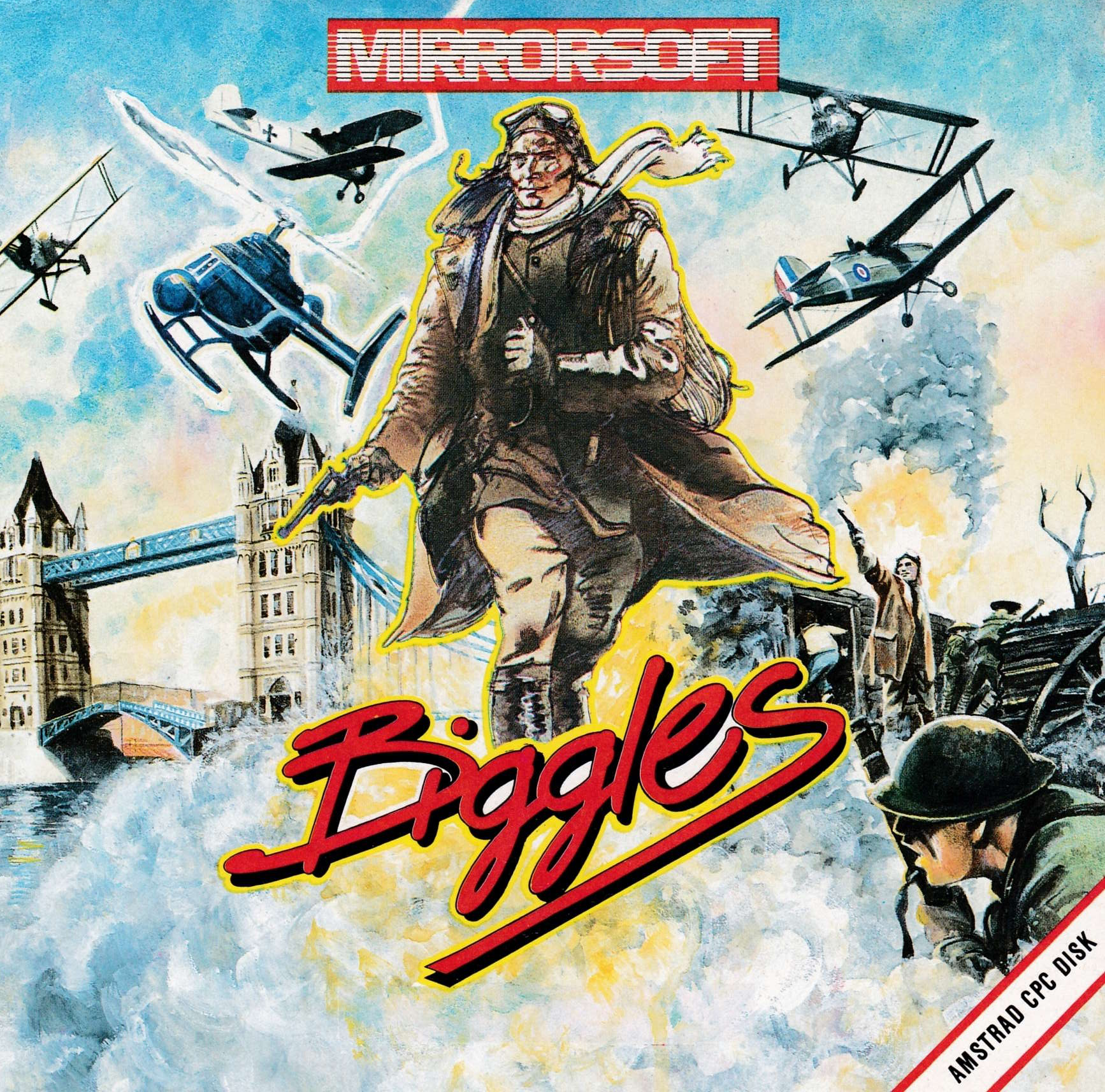 cover of the Amstrad CPC game Biggles  by GameBase CPC