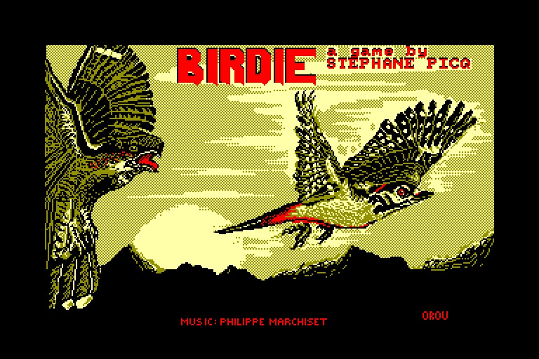 screenshot of the Amstrad CPC game Birdie by GameBase CPC