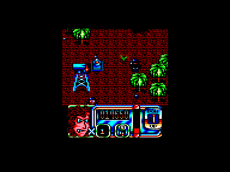 screenshot of the Amstrad CPC game Blazing Thunder by GameBase CPC
