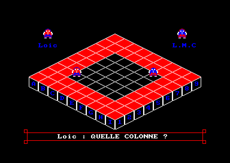 screenshot of the Amstrad CPC game Blocus 3d by GameBase CPC