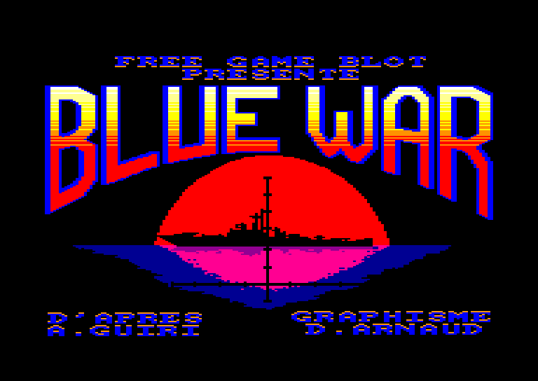 screenshot of the Amstrad CPC game Blue War by GameBase CPC