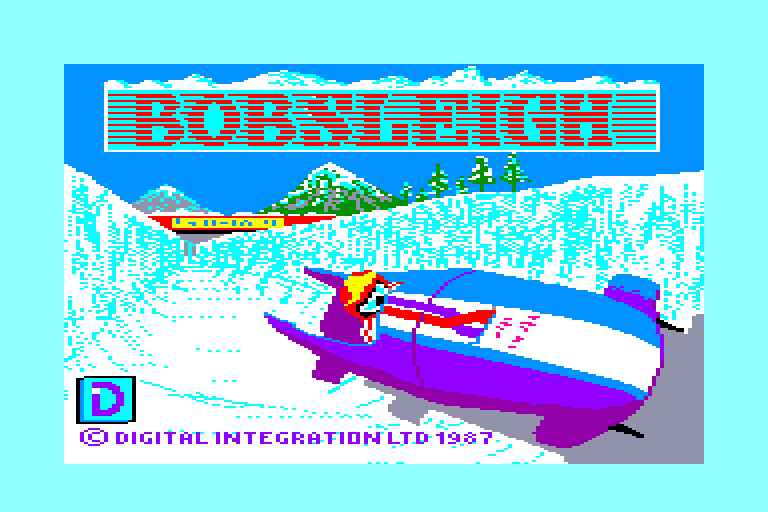 screenshot of the Amstrad CPC game Bobsleigh by GameBase CPC